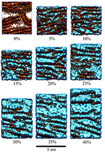 Graphene oxide membranes at varying degrees of hydration